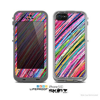 The Abstract Color Strokes Skin for the Apple iPhone 5c LifeProof Case