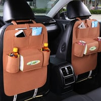 New Auto Car Seat Organizer Holder Multi-Pocket Travel Storage Bag
