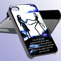 Custom Phone Case Jack Skeleton Selly Love Quotes For iPhone 5, iPhone 4, iPhone 4s, Samsung Galaxy S3, Samsung Galaxy S4, Hard Cover