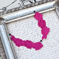 Raspberry Pink Lace Necklace