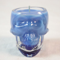 Highly Scented Candle in Crystal Vodka Skull, Thick Glass, Choose Color and Scent