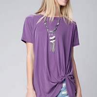 Twisted Up Top - Purple