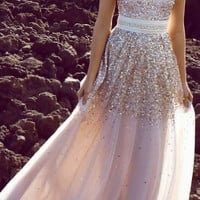 Custom Made Champagne Beaded Prom Dress,Sweetheart Bling Prom Dress,Long Prom Dress,Party Dresses,Strapless Prom Dress Gown