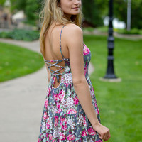 Off to the Races Floral Dress