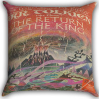 Tolkien LotR Return of the King Paperback I0098 Zippered Pillows  Covers 16x16, 18x18, 20x20 Inches