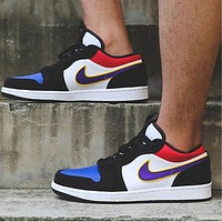 Nike Jordan 1st Generation Bulls Low Tops Blue Black Purple