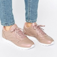 Reebok Classic Leather Sneakers In Rose Gold Pearl at asos.com