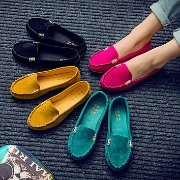 Candy Color Loafer Flats