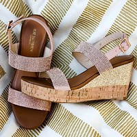 Sparkle Rose Gold Wedge