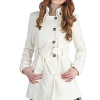 Jack by BB Dakota Out in the Open Air Coat in Ivory | Mod Retro Vintage Coats | ModCloth.com