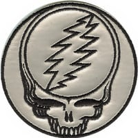 Grateful Dead Iron-On Patch Chrome Steal Your Face Logo