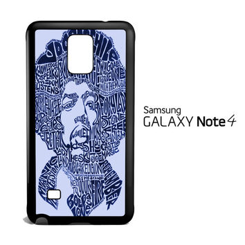 Jimi Hendrix Song Titles Collage Samsung Galaxy Note 4 Case