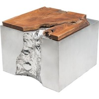 ZUO Modern Luxe Coffee Table Natural&Ss 100526 Living Coffee Table