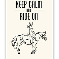 Horse Pony Equestrian Keep Calm And Ride On Apple iPhone 5C Quality Hard Snap On Case for iPhone 5c/5C - AT&T Sprint Verizon - White Case