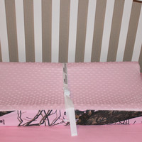 Light Pink Mossy Oak Changing Pad Cover