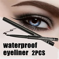 2pcs/set Waterproof Retractable Rotary Eyeliner Pen Makeup Tool