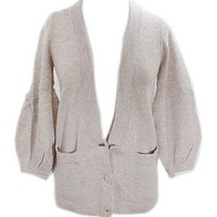 Marc by Marc Jacobs Oatmeal Button Down Sweater / Cardigan with Bell Sleeve