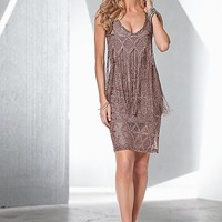 Sparkle fringe dress, strappy heel in the VENUS Line of Dresses for Women