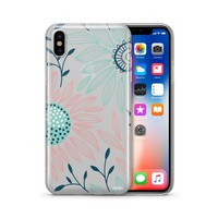 Floral Patch iPhone & Samsung Clear Phone Case Cover