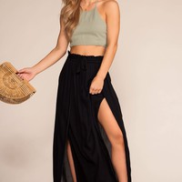 Scenic Drive High Waisted Skirt - Black