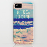 Let The Sea Set You Free iPhone & iPod Case by Josrick