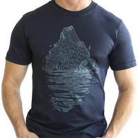 Navy Blue Emerging Bear Tee - One Piece Size XXL Available