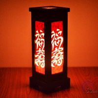 Japanese Oriental MDFL Natural Mulberry Paper Lamps Home Lighting Furniture Bedroom Decorate Wooden Lamp Handmade
