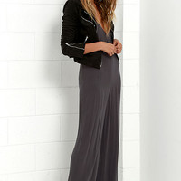 Gentle Fawn Dylan Charcoal Grey Jumpsuit