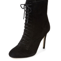 Renvy Women's Vania Lace-Up Bootie - Black -