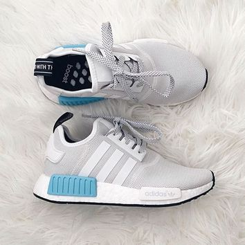 """ADIDAS"" Women Running Sport Casual NMD Shoes Sneakers Blue-White"