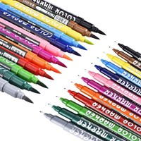 Superior 12Colors/Set Dual Watercolor Brush Marker Colored Pen Set for Artist Paints School Sketch Drawing Markers Art Supplies