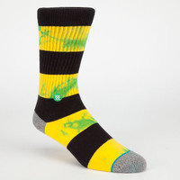Stance Leroy Mens Crew Socks Yellow Combo One Size For Men 24149164901