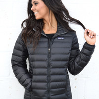 Patagonia Women's Down Sweater Jacket- Black