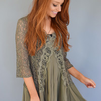 Broadmoor Lace Tunic Olive