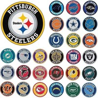 "NFL Teams - 27"" Roundel Area Rug Floor Mat - Wall Decor - Choose Your Team"