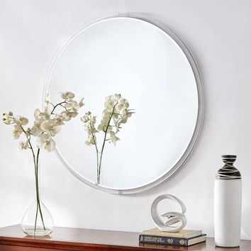 Nikola Clear Acrylic Frame Round Wall Mirror by iNSPIRE Q Bold - N/A/A | Overstock.com Shopping - The Best Deals on Mirrors