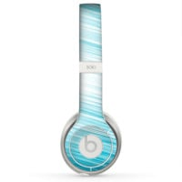The Bright Diagonal Blue Streaks Skin for the Beats by Dre Solo 2 Headphones