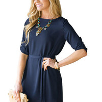 Casual Long Sleeve Chiffon Dress