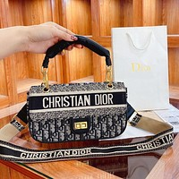 Dior fashion western style flip bag shoulder bag