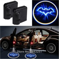 Batman Dark Knight gift Christmas 2PCS LED Car Door Welcome Light Logo Batman Car-styling for Honda fit accord crv civic 2006-2012 jazz city hrv Accessories AT_71_6