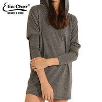 New Autumn Hoodies Streetwear Full Sleeve Hooded Elia Cher Pullovers Plus Size Casual Women Clothing Sweatshirts Lady Tops 6478