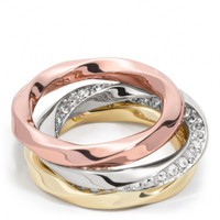Coach :: Twisted Stacking Rings