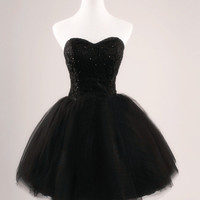 Black Ball Gown Sweetheart Short Mini Homecoming Dress, Prom Dress, Formal Dress