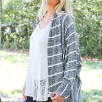 White Lines Plus Size Cardigan