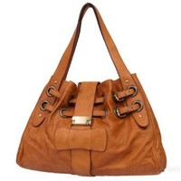 SARA- Italian Leather Double-belted Shopper Tote