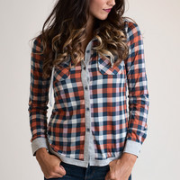 She's A Little Bit Country Plaid Button Down