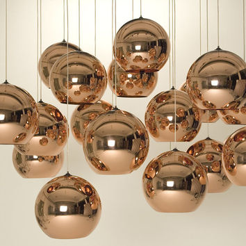 Tom Dixon Inspired Copper Shade Ceiling Pendant Light (FREE Worldwide Shipping)