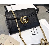 GUCCI GG Leather Chain Shoulder bag