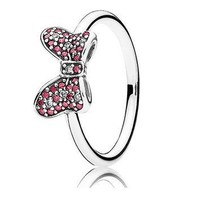 Authentic Pandora Jewelry - DISNEY Minnie's Sparkling Bow Ring
