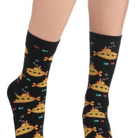 ModCloth Nautical Wearable Whimsy Socks in Submarines